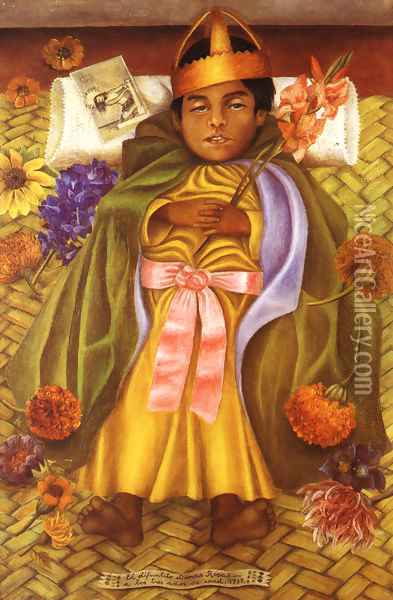 The Deceased Dimas Rosas Aged Three 1937 Oil Painting - Frida Kahlo