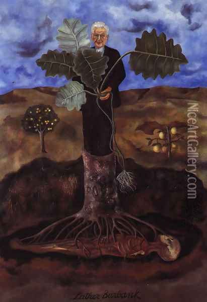 Portrait Of Luther Burbank 1931 Oil Painting - Frida Kahlo