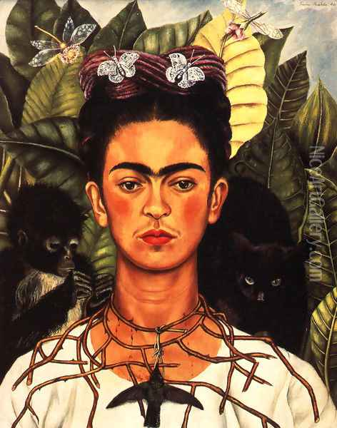 Ransom Research Center University Of Texas At Austin Oil Painting - Frida Kahlo