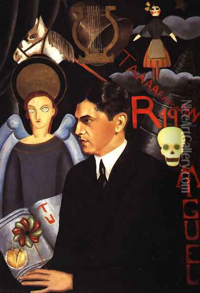 Portrait Of Miguel N Lira 1927 Oil Painting - Frida Kahlo