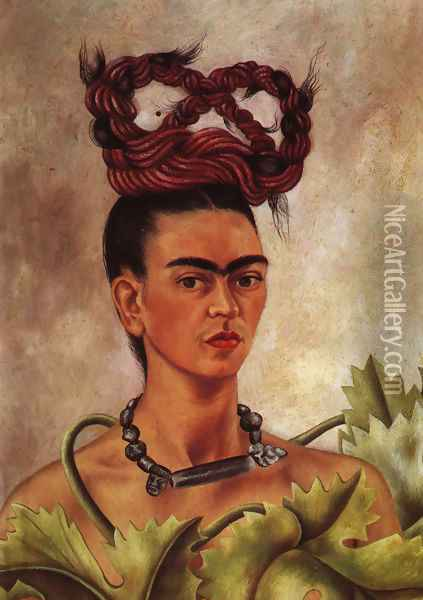 Self Portrait With Braid 1941 Oil Painting - Frida Kahlo