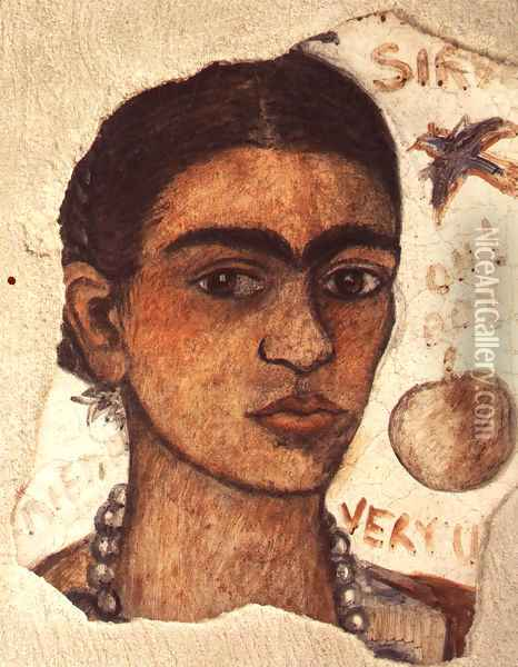 Self Portrait Very Ugly 1933 Oil Painting - Frida Kahlo
