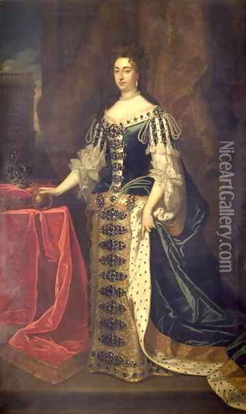 Queen Mary II Oil Painting - Sir Godfrey Kneller