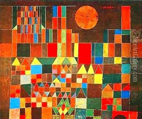 Castle and Sun Oil Painting - Paul Klee