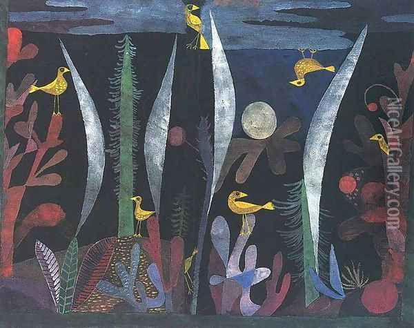 Landscape With Yellow Birds Oil Painting - Paul Klee