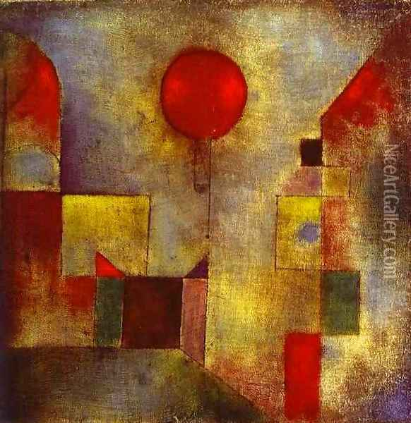 Red Balloon Oil Painting - Paul Klee