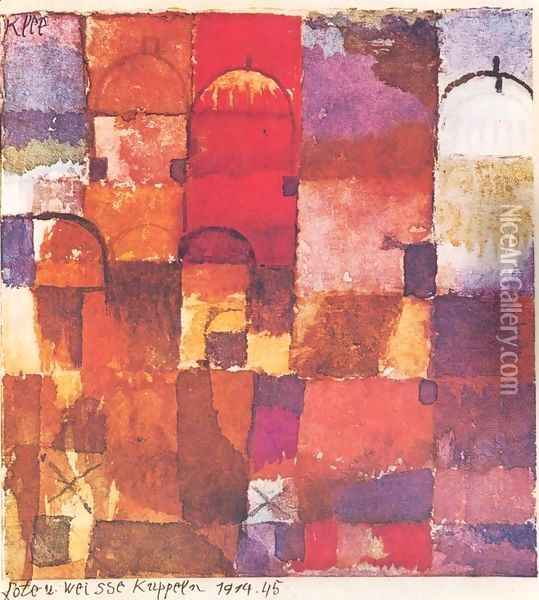 Rote und weisse Kuppeln Oil Painting - Paul Klee
