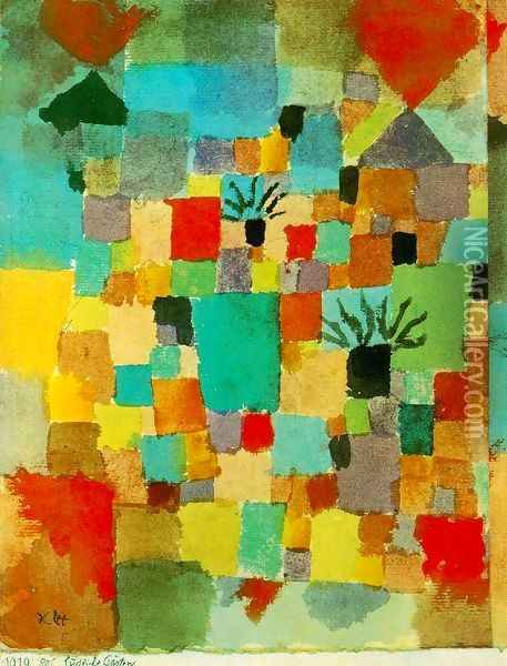 Southern (Tunisian) Gardens Oil Painting - Paul Klee