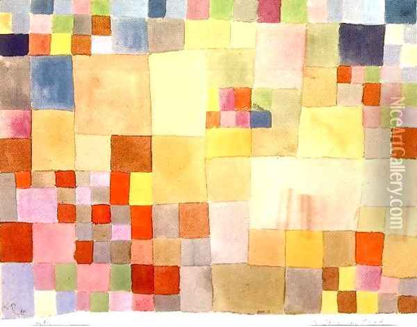 Flora on the Sand Oil Painting - Paul Klee