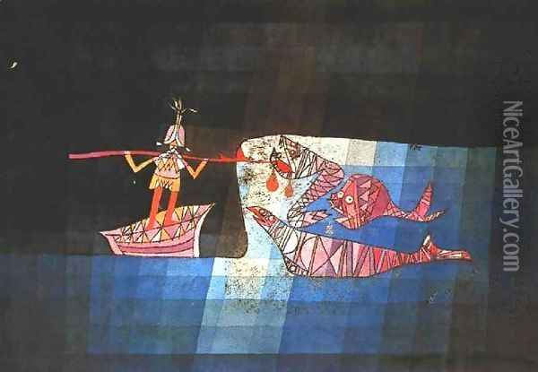 Sinbad the Sailor Oil Painting - Paul Klee