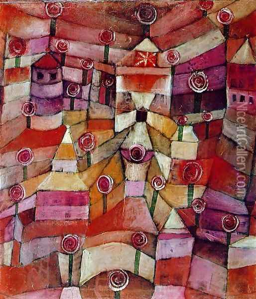 The Rose Garden Oil Painting - Paul Klee