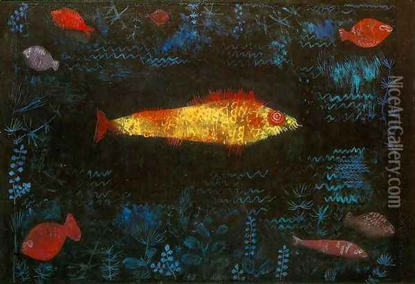 The Golden Fish Oil Painting - Paul Klee