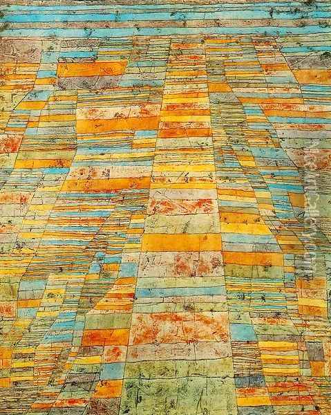 Highway and Byways Oil Painting - Paul Klee