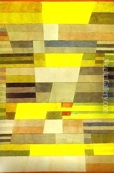 Monument in Fertile Country Oil Painting - Paul Klee
