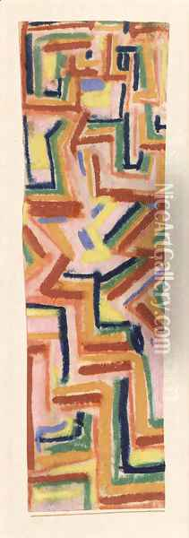 Teppich Oil Painting - Paul Klee