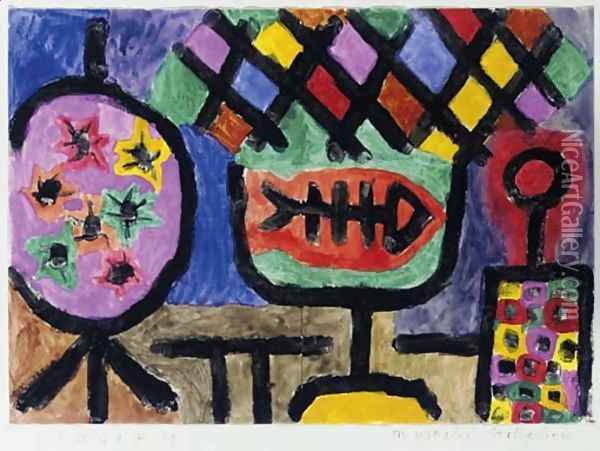 Museales Stilleben Oil Painting - Paul Klee