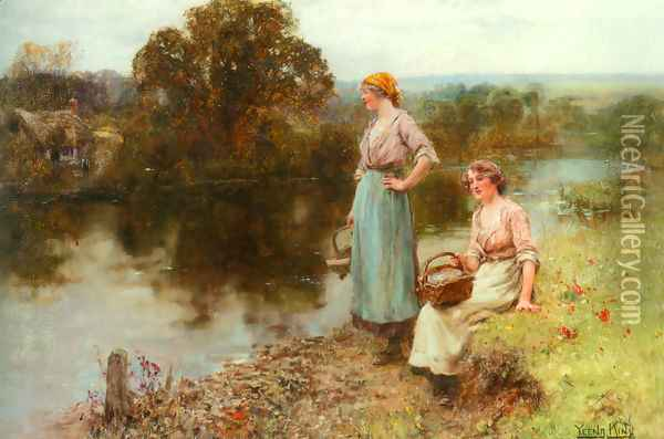 Waiting for the Ferryman Oil Painting - Henry John Yeend King