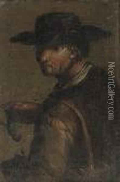 A Fisherman With His Catch Oil Painting - Giacomo Francesco Cipper