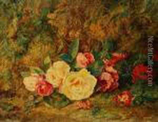 Roses Oil Painting - George Clare