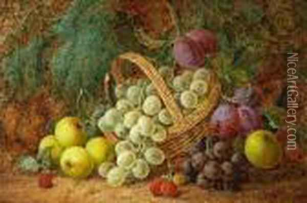 Still-life With Fruit Oil Painting - George Clare