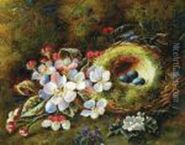 Nido Y Flores Oil Painting - George Clare