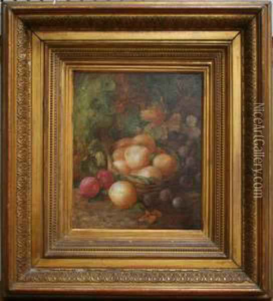 Fruit In A Basket Oil Painting - Vincent Clare