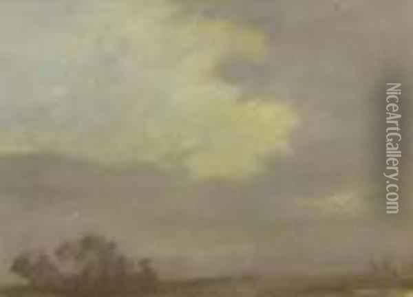 Cloud Study With Distant Trees Oil Painting - George Clausen