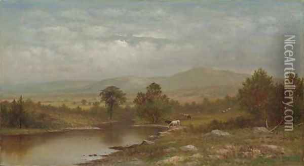 The Mohawk at Westerville, New York Oil Painting - Charles Wilson Knapp