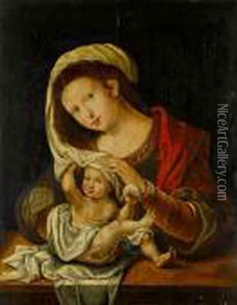 The Madonna And Child Oil Painting - Pieter Coecke Van Aelst