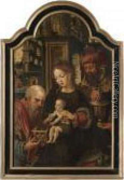 The Adoration Of The Magi Oil Painting - Pieter Coecke Van Aelst
