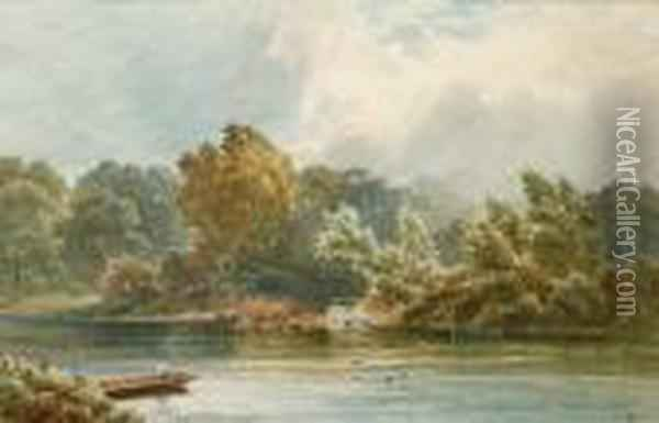 Thames Ditton Oil Painting - George Vicat Cole