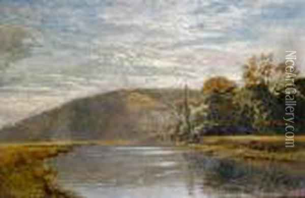 Early Morning On The Arun Oil Painting - George Vicat Cole