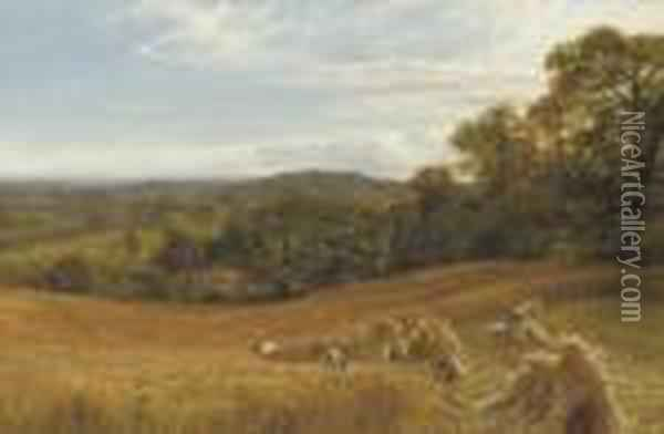 The Heart Of Surrey Oil Painting - George Vicat Cole