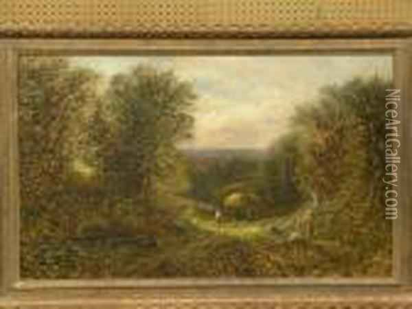 Haying Oil Painting - George Vicat Cole