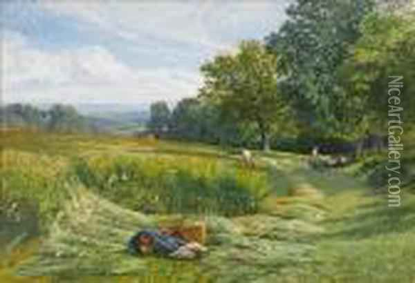 Near Leith Hill, Dorking Oil Painting - George Vicat Cole
