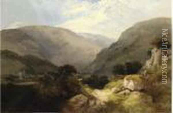 Tintern Abbey Oil Painting - George Vicat Cole