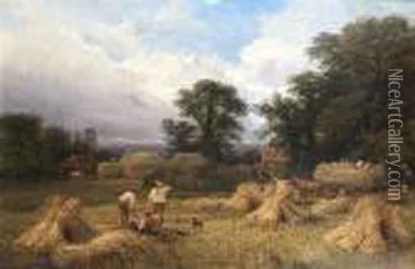 Harvest Time Oil Painting - George Vicat Cole