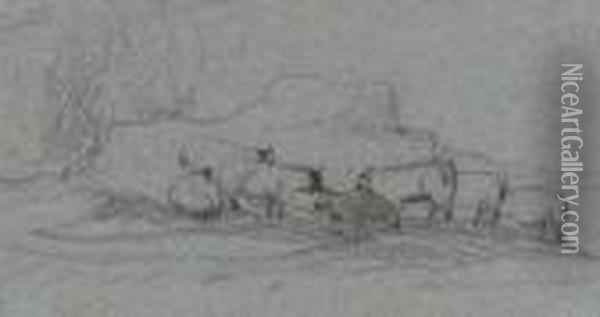 Sheep Grazing Oil Painting - John Constable