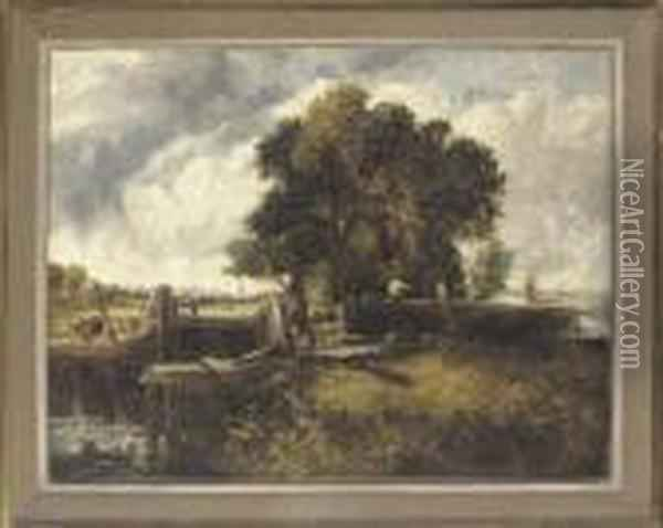 The Lock Oil Painting - John Constable
