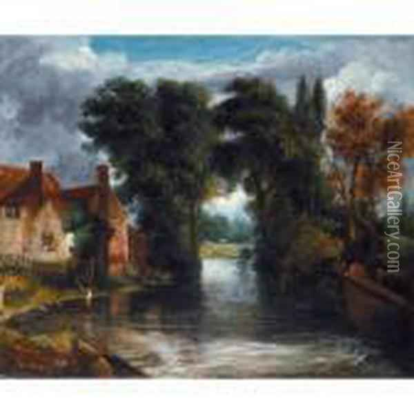 The Valley Farm Oil Painting - John Constable