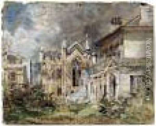 The Gothic House, Sillwood Place, Brighton Oil Painting - John Constable