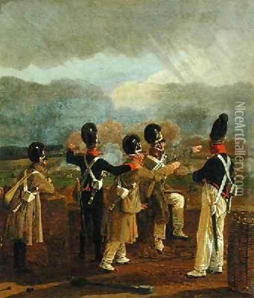Soldiers on the Ramparts Oil Painting - Wilhelm Alexander Kobell