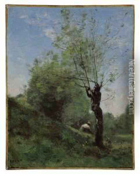 Planque Oil Painting - Jean-Baptiste-Camille Corot