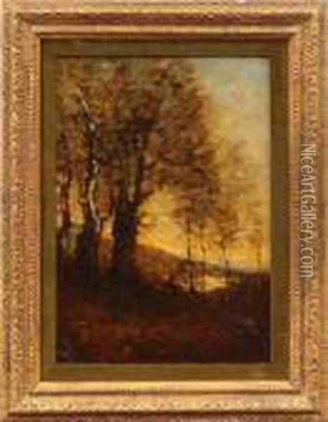 Clearing By The Woods Oil Painting - Jean-Baptiste-Camille Corot