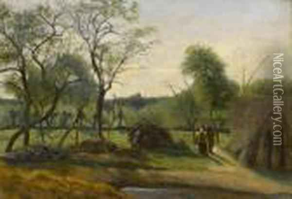 Landscape With Pasaynnes Oil Painting - Jean-Baptiste-Camille Corot