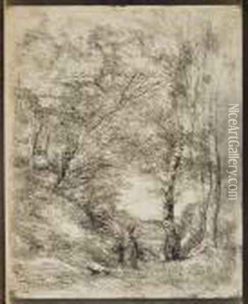 Untitled Oil Painting - Jean-Baptiste-Camille Corot