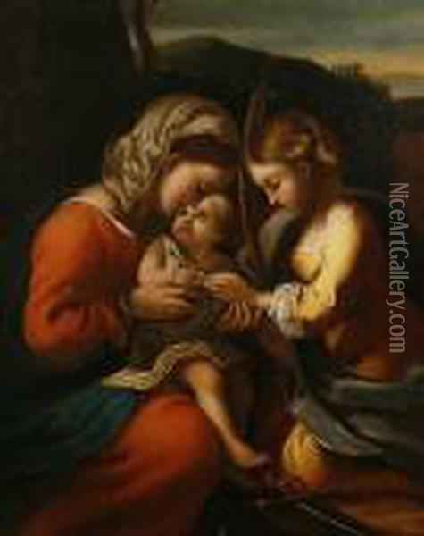 The Mystic Marriage Of Saint Catherine Ofalexandria Oil Painting - Correggio, (Antonio Allegri)