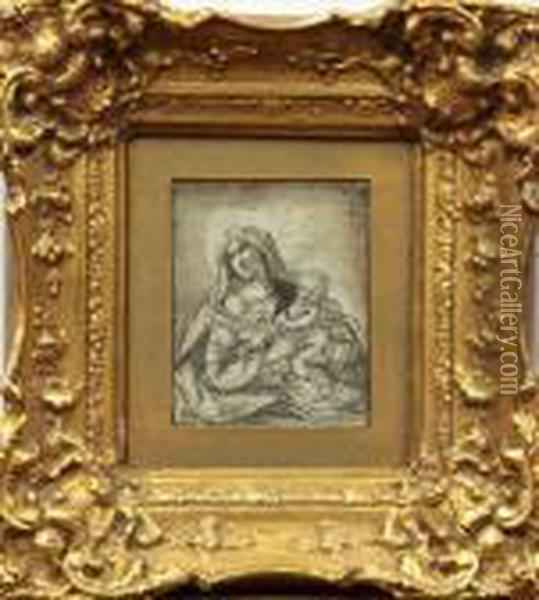 Virgin And Child Oil Painting - Correggio, (Antonio Allegri)