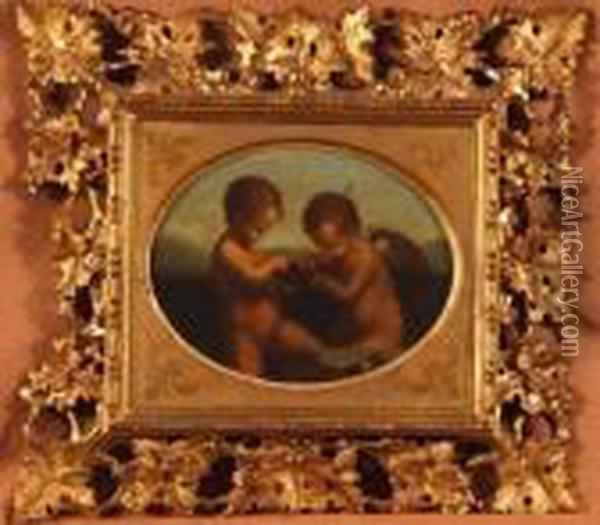 Cupid Sharpening His Arrows Oil Painting - Correggio, (Antonio Allegri)