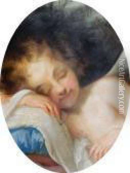 Cupid Sleeping Oil Painting - Correggio, (Antonio Allegri)